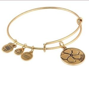 Alex and Ani Gold Flower Friend Bracelet